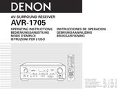 denon avr 1705 manuals rh manualslib com denon avr 1705 service manual denon avr 1705 manual free
