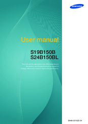 Samsung SyncMaster S19B150B User Manual