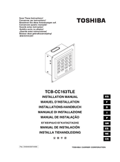 Toshiba TCB-CC163TLE Installation Manual