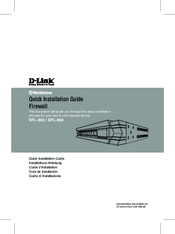 D-Link DFL-860 Quick Installation Manual