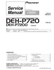 pioneer deh-p7200 service manual pdf download | manualslib  manualslib