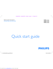 Philips 4200 series Quick Start Manual