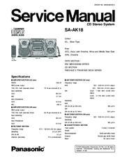 panasonic saak18 mini hes w cd player manuals rh manualslib com panasonic mash 5-cd changer stereo manual panasonic 5 cd changer service manual