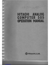 Hitachi 505 Operation Manual