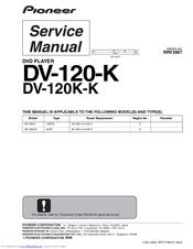dv 120 Pioneer DV-120-K Manuals