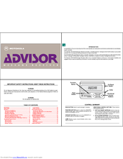 Motorola ADVISOR Manual