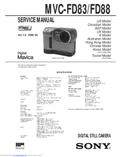 Sony Mavica MVC-FD83 Service Manual