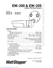 WATTSTOPPER EW-200-120 INSTALLATION INSTRUCTIONS MANUAL Pdf ... on data sheet pdf, plumbing diagram pdf, power pdf, body diagram pdf, welding diagram pdf, battery diagram pdf,