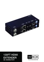 W Box 0E-HDMIEXTDR Manuals