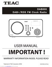 Teac DAB800 Manuals