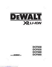 Dewalt DCF885 Manuals on