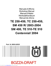 Husqvarna TE 250-450 Workshop Manual