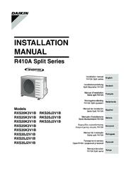 daikin rxs25k3v1b manuals rh manualslib com Daikin Wired Remote Manual daikin installation manual r410a split series inverter
