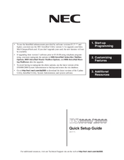 NEC DS1000 Quick Setup Manual