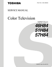 toshiba 57h84 57 rear projection tv manuals rh manualslib com 57H84 Toshiba Remote Toshiba TV