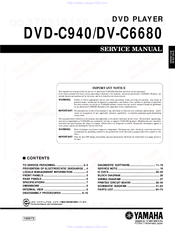 Yamaha Dvd C940 Manuals Manualslib