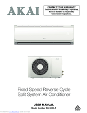 akai ak 9000 f manuals rh manualslib com Whirlpool Portable Air Conditioner Manual Whirlpool Portable Air Conditioner