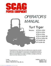 scag power equipment turf tiger sttv dfi ss manuals we have 7 scag power equipment turf tiger stt61v 29dfi ss manuals available for pdf operator s manual