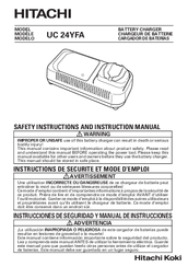 Hitachi UC 24YFA Instruction Manual And Safety Instructions