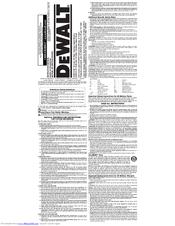 dewalt dcf815 manuals rh manualslib com dewalt dc012 owners manual dewalt owners manual dw735