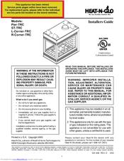 Heat N Glo R Corner Trc Manuals