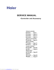 Haier ICR01 Service Manual