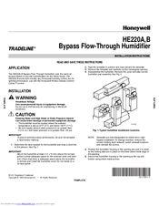 Honeywell B Installation Instructions Manual