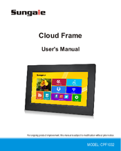 Sungale Cloud Frame Cpf1032 Manuals