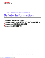 Toshiba 305 Safety Information Manual