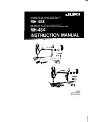 juki mh 481 manuals rh manualslib com Juki Sewing Machine Timing Set Juki Sewing Manuals