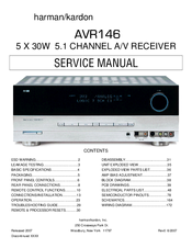 Harman Kardon AVR 146 Manuals