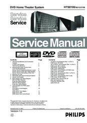 philips hts8100 service manual pdf download rh manualslib com Philips Soundbar with Subwoofer Manual Philips Sound Bar Installation