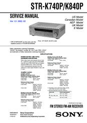 sony str k740p fm stereo fm am receiver manuals rh manualslib com sony str-k740p service manual sony model str k740p manual