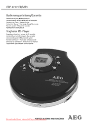AEG CDP 4212 Instruction Manual