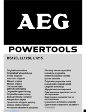 AEG LL1230 Original Instructions Manual