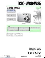sony dsc w80 service manual pdf download rh manualslib com sony cyber-shot dsc-w80 instruction manual sony cyber shot dsc w800 manual