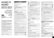 Korg MICROKEY2-49AIR Owner's Manual