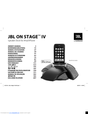 jbl on stage iv manuals rh manualslib com Review JBL On Stage jbl on stage 2 user manual