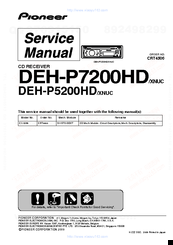 pioneer deh p5200hd manuals rh manualslib com Pioneer Deh 12 Wiring-Diagram Pioneer HD Radio Car