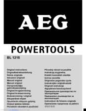 AEG BL 1218 Original Instructions Manual