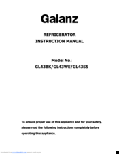 galanz air conditioner manual pdf