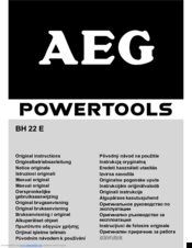 AEG KH 26 E Original Instructions Manual