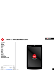 Motorola DROID XYBOARD 8.2 Manual