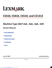 Lexmark CS410 series Manuals