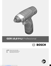 Bosch 8 V-LI Professional Operating Instructions Manual