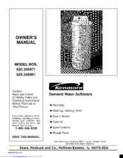 Kenmore 625.348491 Owner's Manual
