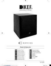 kef c series. kef c series c4 installation manual kef