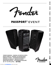 fender passport event manuals rh manualslib com Fender Passport 250 PA System Amp Fender Passport PD-250
