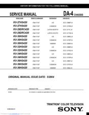 Sony trinitron xbr 36 manual.