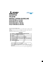 Mitsubishi Electric FR-D720-008 Installation Manuallines